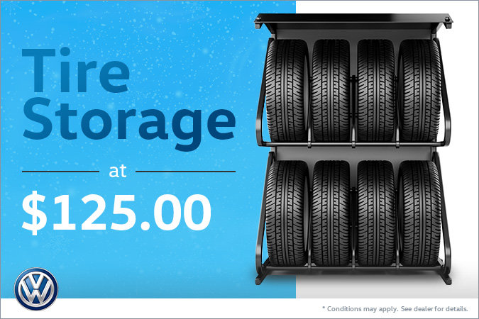 Tire Storage at $125