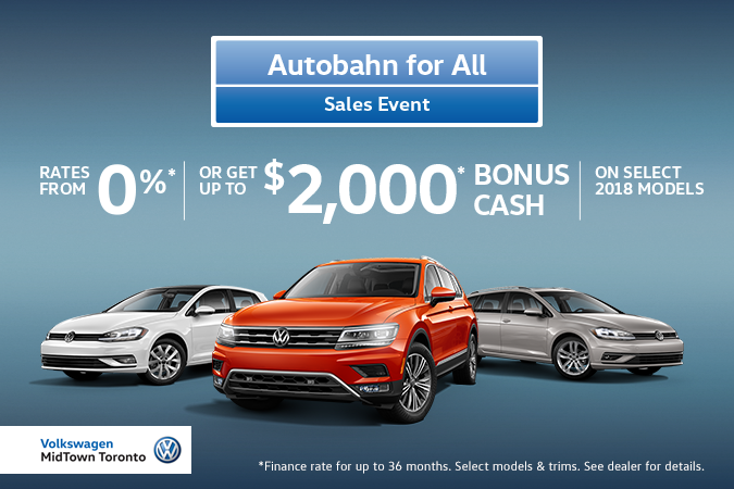 VW MidTown's 2018 MAY Offers - Autobahn for All