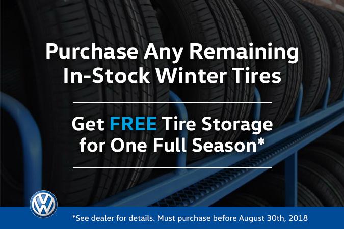 FREE Tire Storage for A Season