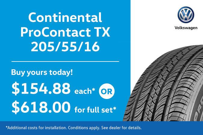 205/55/15 Continental ProContact TX Tires