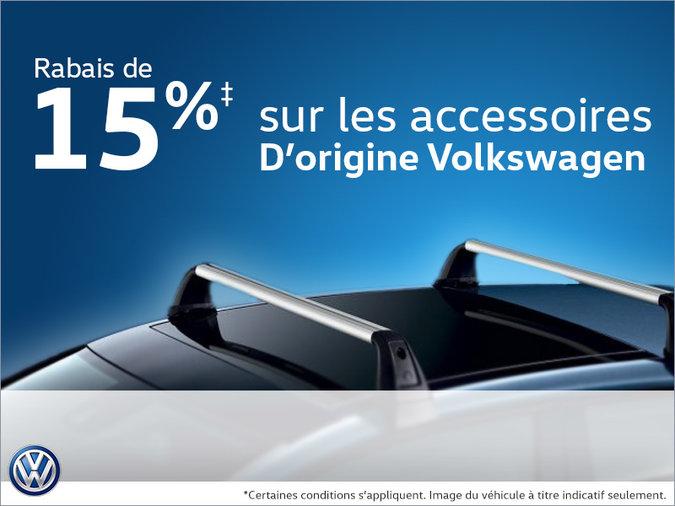 15% de rabais sur les accessoires