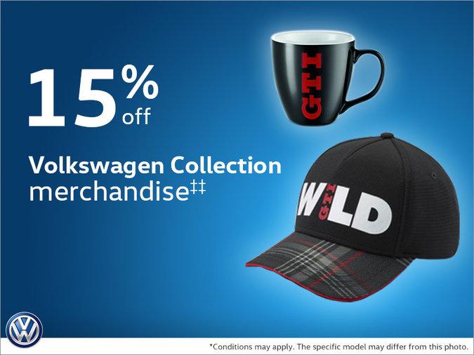 15% Off Volkswagen Collection merchandise