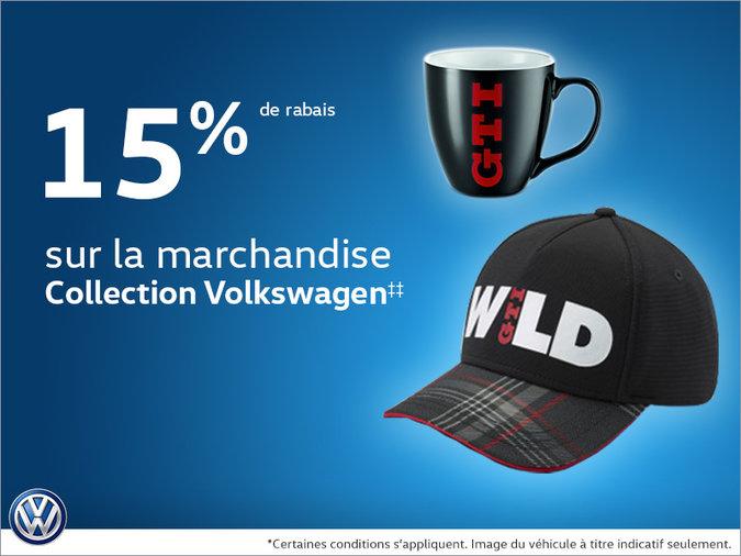 15% de rabais sur la marchandise collection Volkswagen
