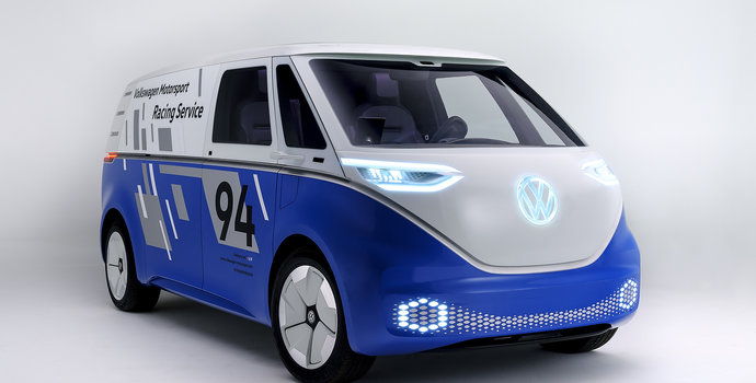 Volkswagen lights up L.A. with I.D. Buzz Cargo Concept