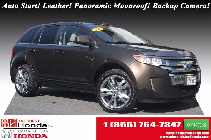 Ford Edge Limited Awd Auto Start Leather Panoramic Moonroof Backup Camera