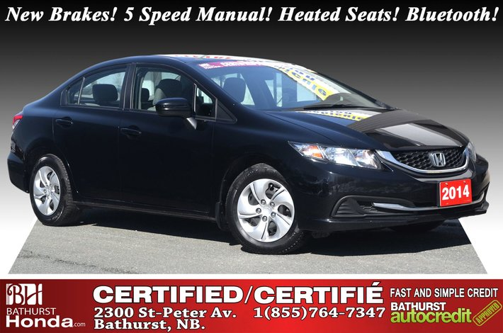 2014 Honda Civic Sedan LX New Brakes! 5 Speed Manual! Heated Seats! Bluetooth!