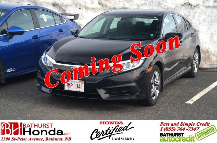 2016 Honda Civic Sedan LX Heated Seats! Backup Camera! Bluetooth! Wifi! Apple CarPlay!
