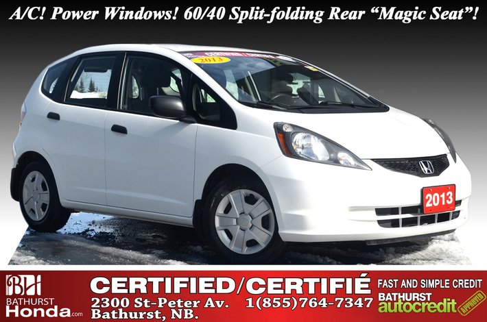"2013 Honda Fit DX-A Auto Start! A/C! Power Options! 60/40 Split-folding Rear ""Magic Seat""!"