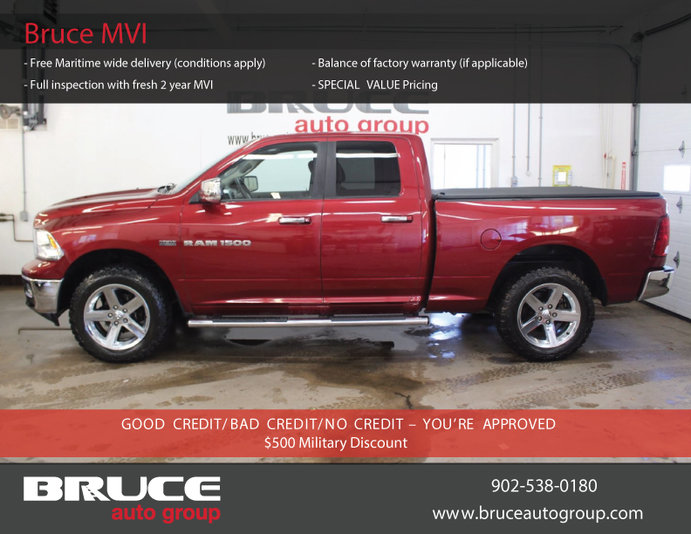 2012 Dodge Ram 1500 Big Horn 5 7l 8 Cyl Hemi Automatic 4x4 Quad Cab Satellite Radio Used For Sale In Soft Tonneau Cover Bluetooth Connection