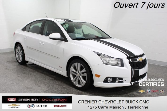 2014 Chevrolet Cruze 2lt Rs Turbo Cuir Toit Dem Dist Cam Rec Gp Elec Used For Sale In Terrebonne Grenier Occasion