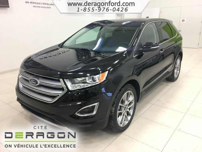 2015 ford edge titanium awd toit pano gps 20 39 39 d 39 occasion cowansville inventaire d. Black Bedroom Furniture Sets. Home Design Ideas