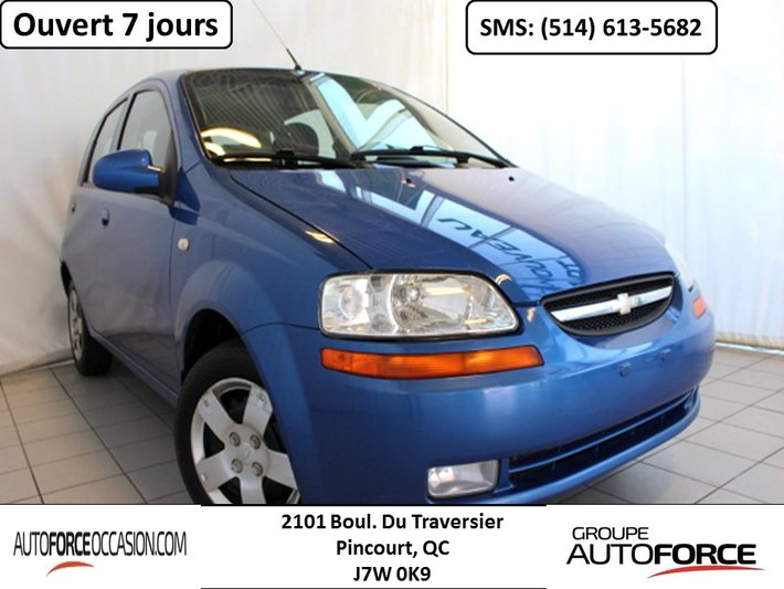 Chevrolet Ile Perrot >> 2008 Chevrolet Aveo Lt Aut Toit Mags Toute Equipe Used For