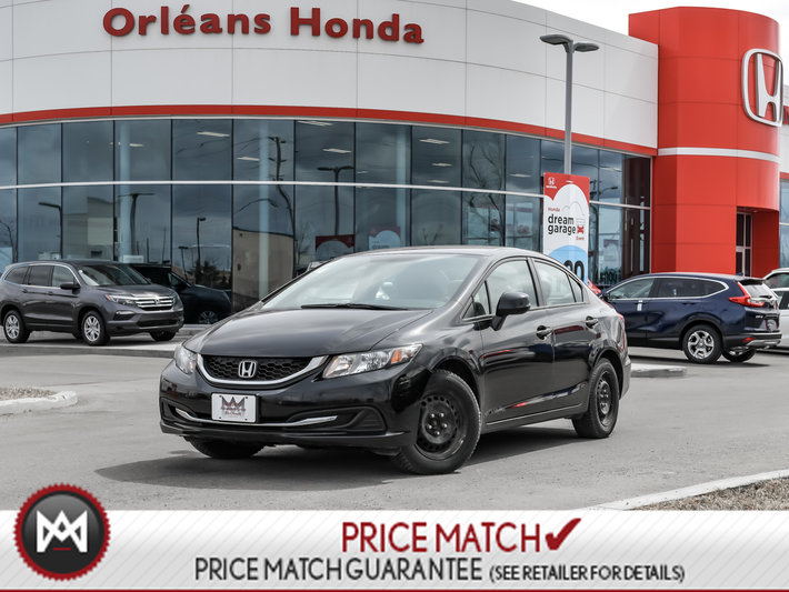 2013 Honda Civic LX, 5 SPEED MANUAL, HANDS FREE CAPABILITIES LEASE RETURN,  NO