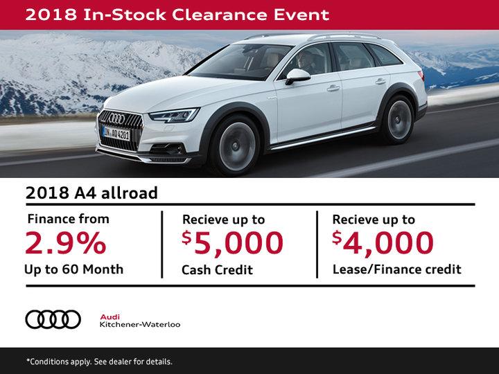 Get a 2018 Audi A4 Allroad Today