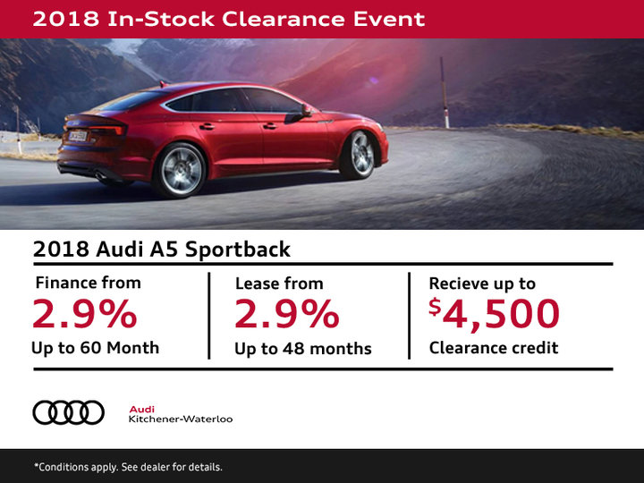 Get a 2018 Audi A5 Sportback Today