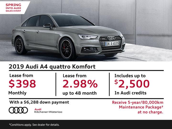 2019 Audi A4 quattro Komfort