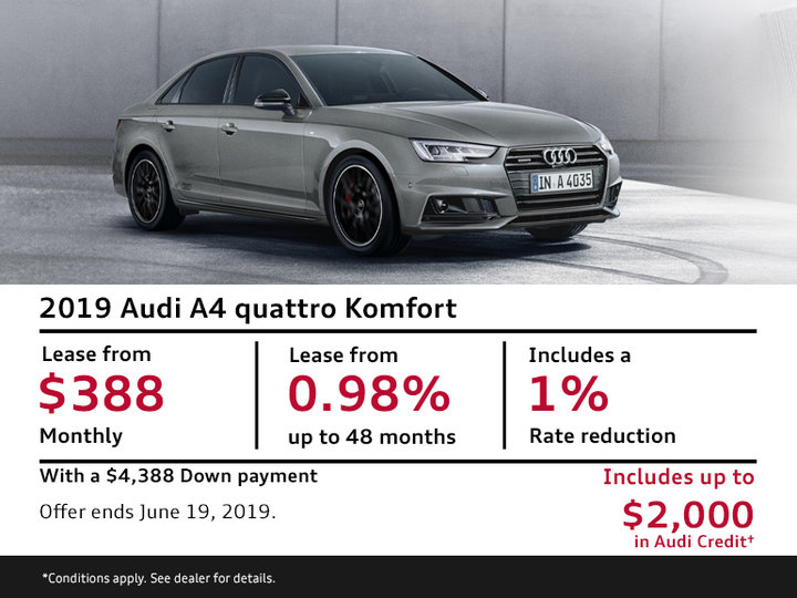 2019 Audi A4 quattro Komfort - Summer of Audi Sales Event