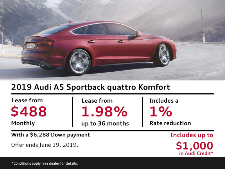 2019 Audi A5 Sportback quattro Komfort - Summer of Audi Sales Event