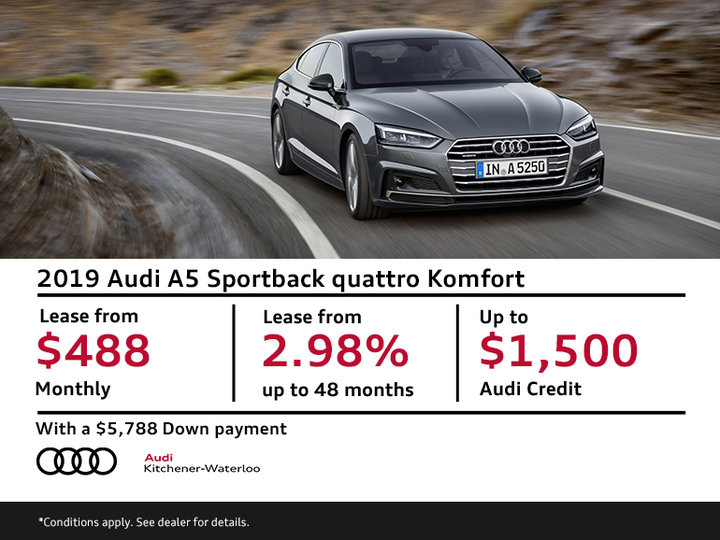 Lease the A5 Sportback