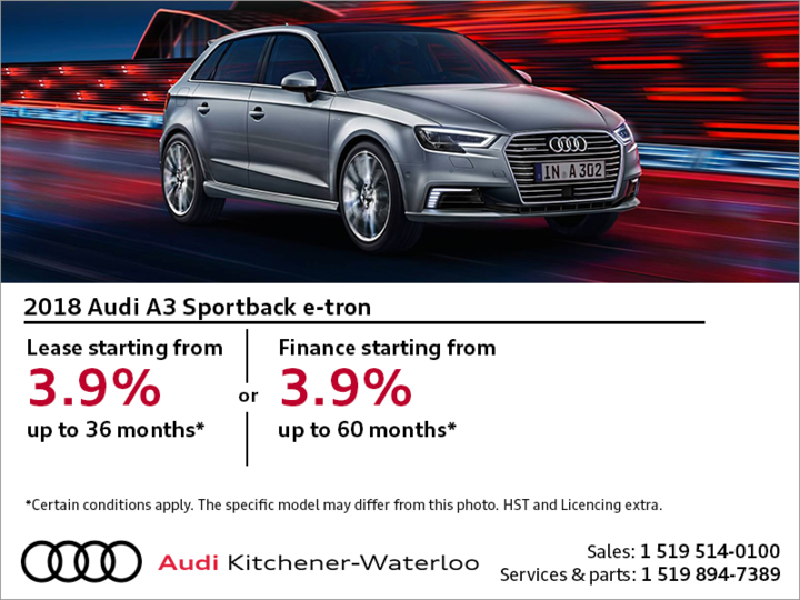 Drive the 2018 A3 Sportback e-tron today!