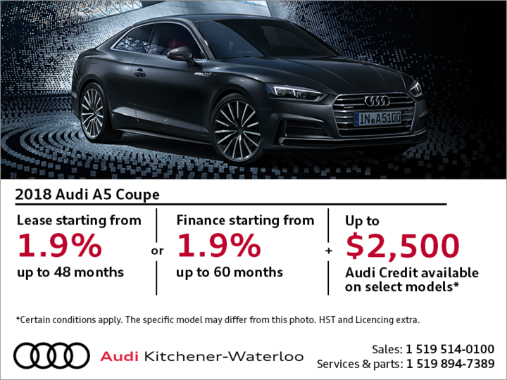 Drive the 2018 A5 Coupé today!