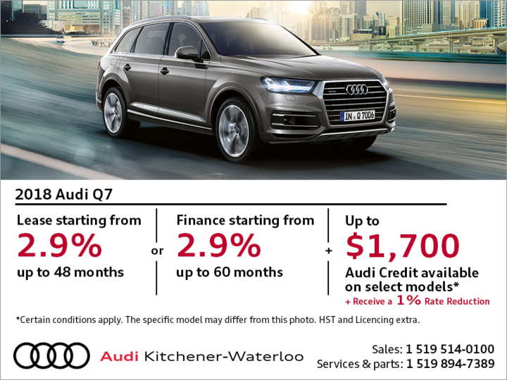 Drive the 2018 Audi Q7 today!