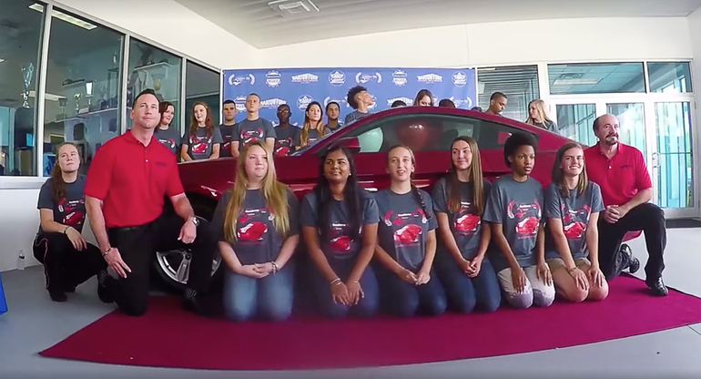 Educational Excellence Earns Polk County High School Student New Ford Mustang