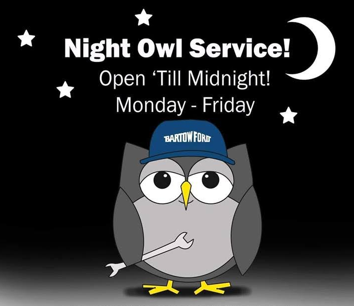 Night Owl Service! - Open 'Till Midnight