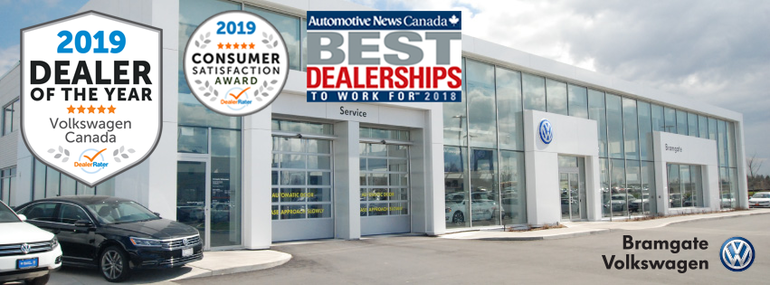 Bramgate Volkswagen Wins 2019 DealerRater Volkswagen Dealer of the Year Award