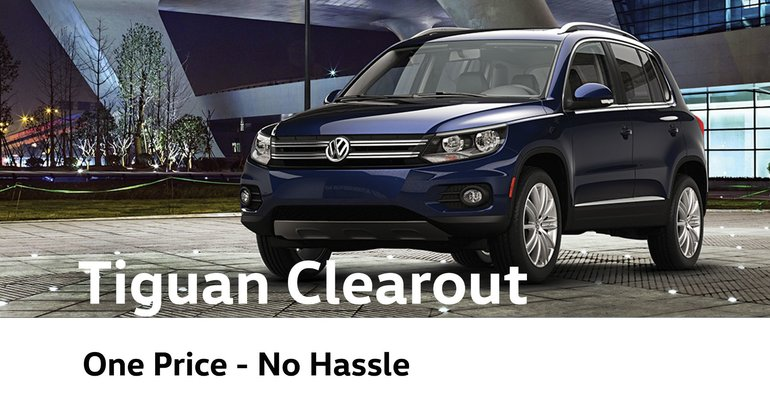 VW Tiguan Clearout Sale Event in Vancouver BC