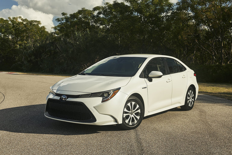 The first-ever Toyota Corolla Hybrid for North American unveiled in Los Angeles