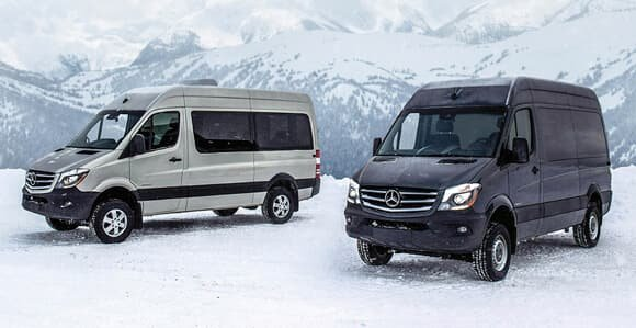 The three types of Mercedes-Benz Vans.