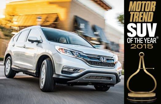 Le Honda CR-V 2015 nommé Meilleur VUS selon Motor Trend