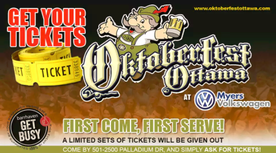 Come In and Ask for Tickets to Oktoberfest!