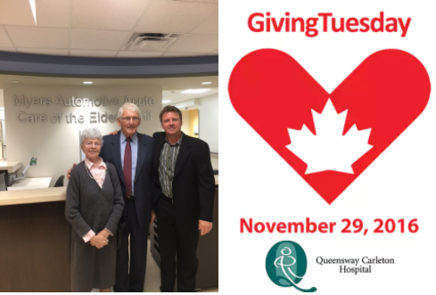 Support the Myers Automotive Acute Care of the Elderly (ACE) Unit This Giving Tuesday - November 29th