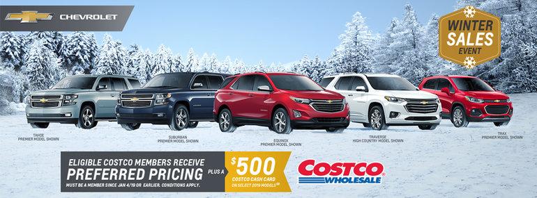 Costco Winter Crossover & SUV Promotion!