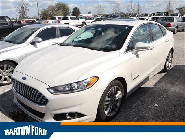 Pre Owned 2015 Ford Fusion Hybrid Titanium In Bartow
