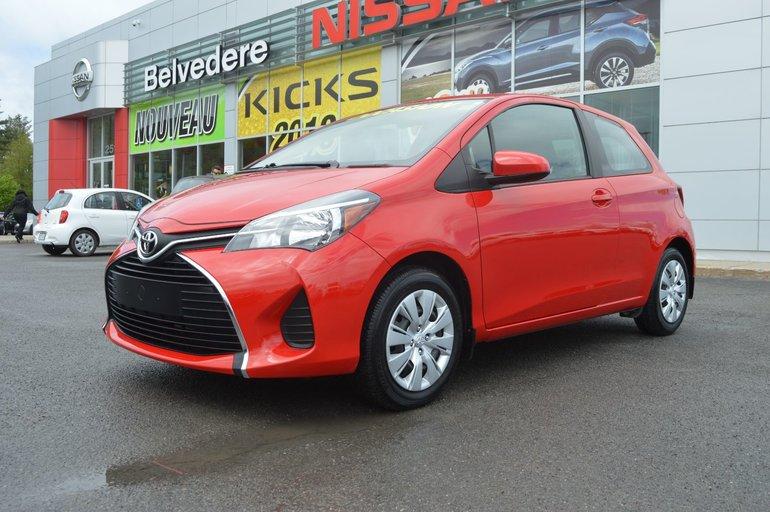 2015 Toyota Yaris CE AUTOMATIQUE SEULEMENT 10940 KM JAMAIS ACCIDENTÉ