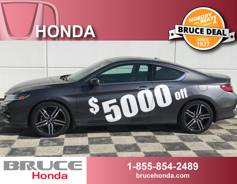 2016 Honda Accord Touring 2.4L 4 CYL CVT FWD 2D COUPE