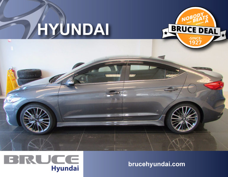 2018 Hyundai Elantra SPORT 1.6L 4 CYL 6 SPD MANUAL FWD 4D SEDAN