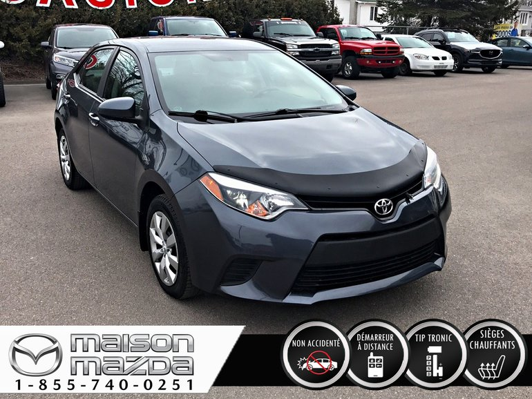2014 Toyota Corolla LE caméra recul, sièges chauffants