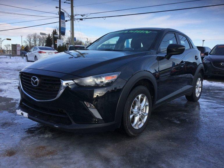 Mazda CX-3 GS, SIÈGES CHAUFFANTS, BLUETOOTH, CAMERA, MAGS,A/C 2016