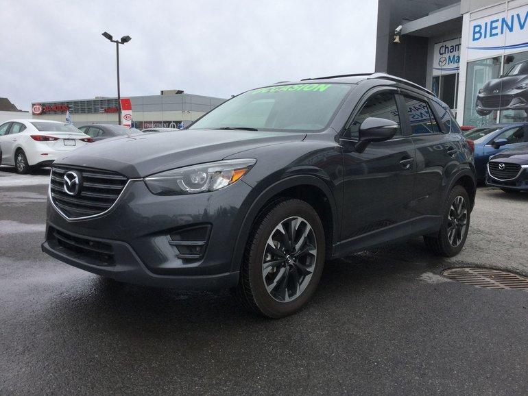 Mazda CX-5 **RÉSERVÉ**, GT, AWD, A/C BIZONE, CUIR, NAVIGATEUR 2016