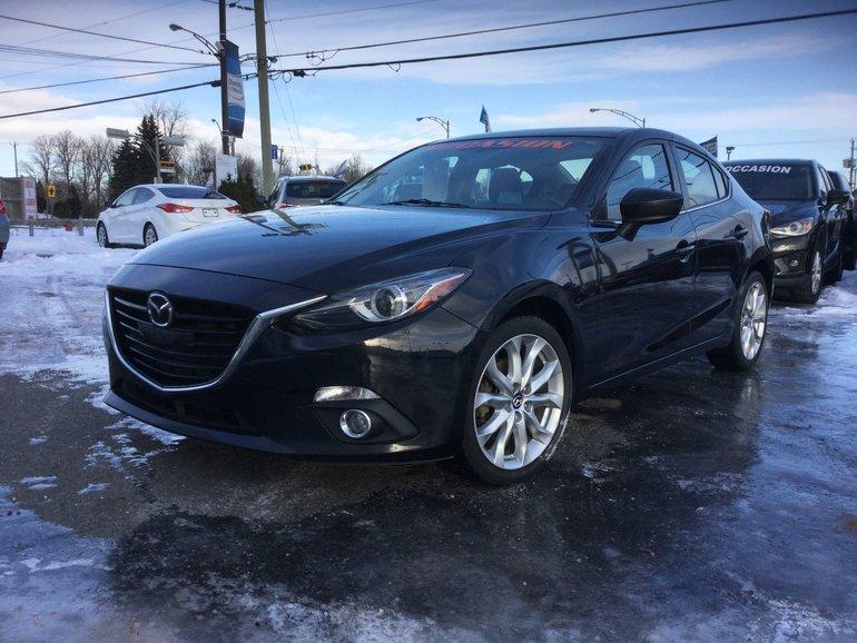Mazda Mazda3 **RÉSERVÉ**, GT-SKY, NAVIGATION, TOIT, A/C BIZONE 2014
