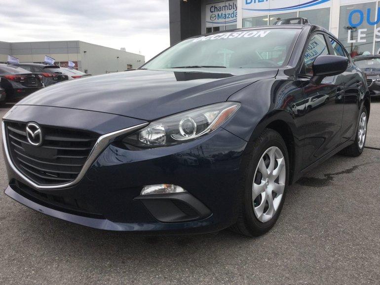 Mazda Mazda3 **RÉSERVÉ**, GX, BLUETOOTH, A/C 2015