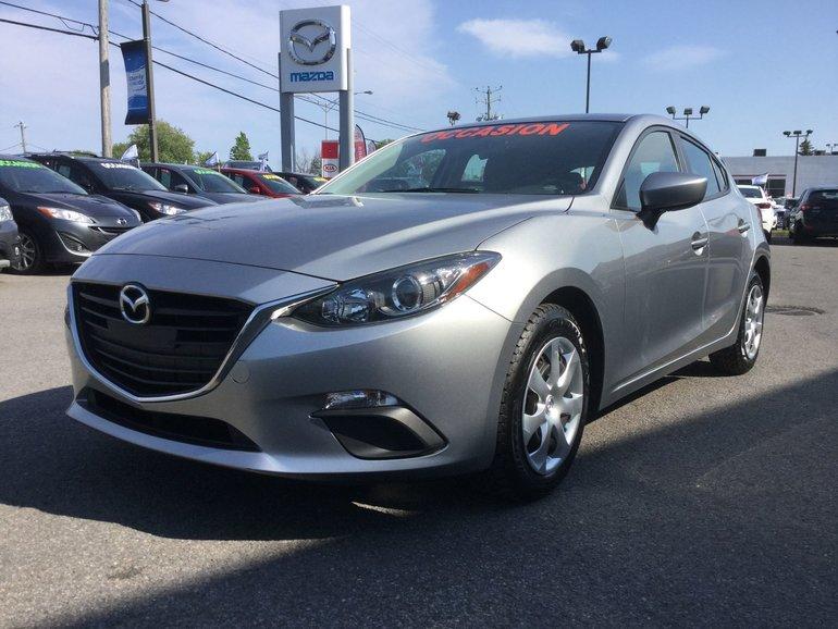 Mazda Mazda3 **RÉSERVÉ**, GX, BLUETOOTH, CAMERA, BLUETOOTH, A/C 2016