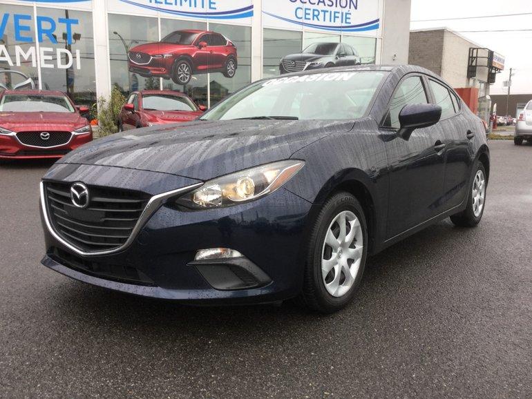 Mazda3 **RÉSERVÉ**, BLUETOOTH, CAMERA, REGULATEUR, A/C 2016