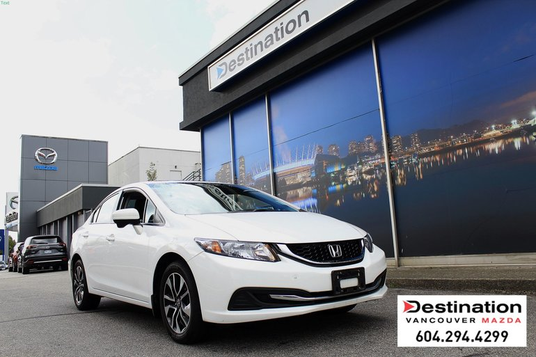 2015 Honda Civic Sedan EX - Low KMS, Local, Non Smoker!