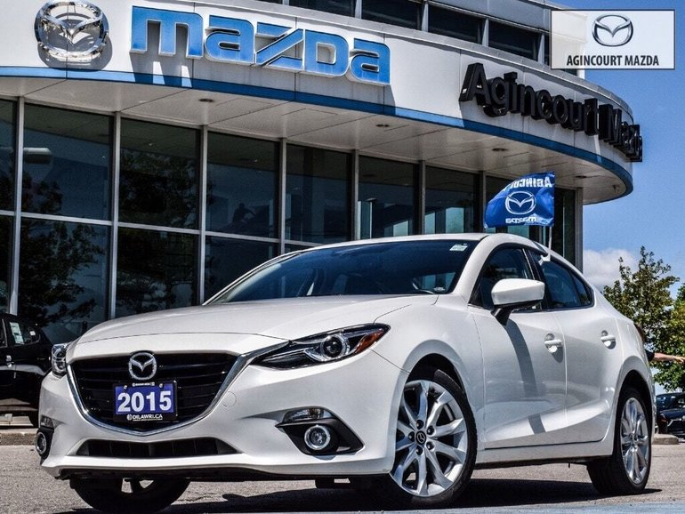 2015  Mazda3 GT   Luxury Pkg   Lthr   Sunroof   Bose   Htd Sts