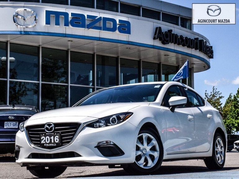 2016  Mazda3 GX   No Accidents   Rear Cam   Bluetooth   A/C